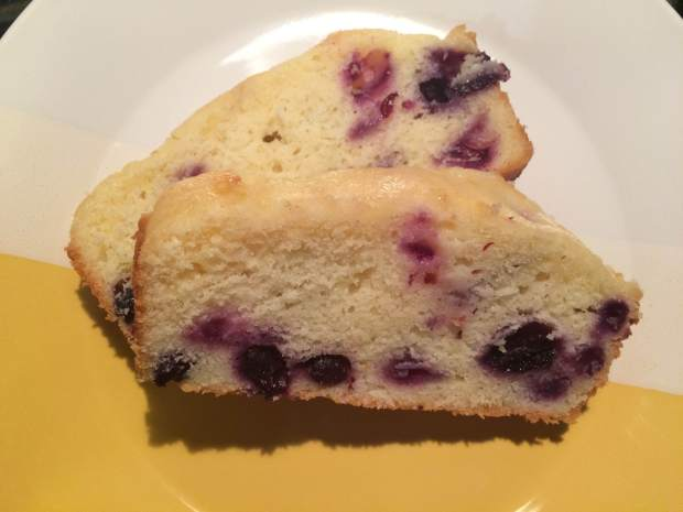 Lemon Blueberry Pound Cake with Lemon Glaze